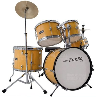 Bateria Infantil Turbo Junior Amarela