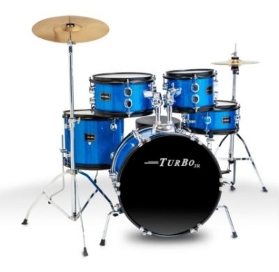 Bateria Infantil Turbo Junior Azul Sparkle
