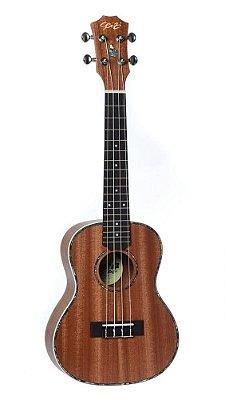 Ukulele Acústico Seizi Maui Plus Concert  Sapele com bag