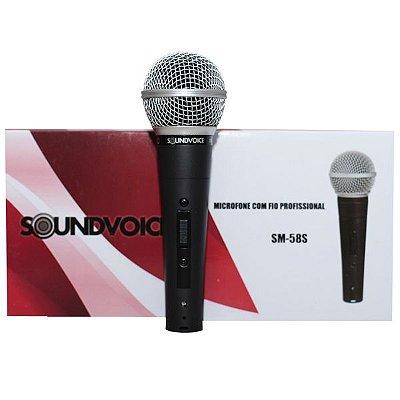 Microfone Soundvoice SM-58S Com Fio