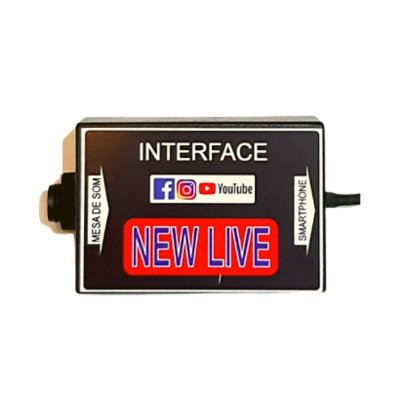 Interface de Áudio New Live Para Smartphone 1 Canal