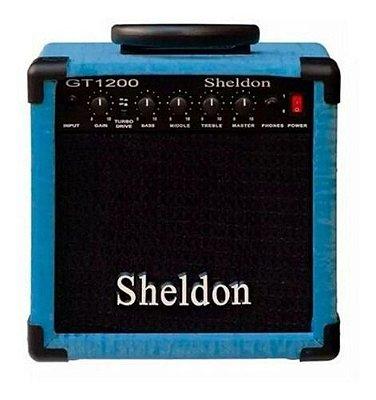 Amplificador Guitarra Sheldon GT-1200 Azul 15W