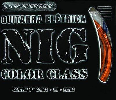 Encordoamento Guitarra NIG N-1642 Color Class 0.10 Laranja