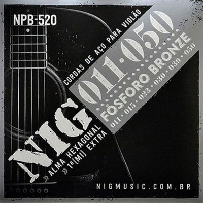 Encordoamento Violão NIG NPB-520 Fósforo Bronze 011