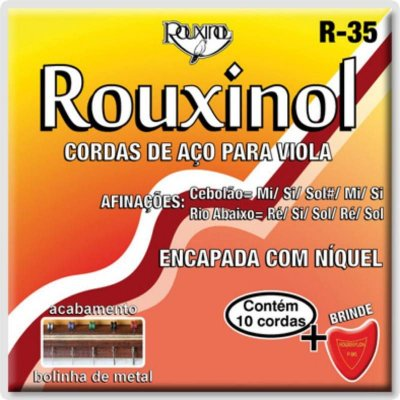 Encordoamento Viola Rouxinol Máxima R-35