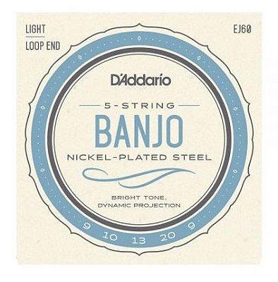 Encordoamento Banjo D'Addario EJ-60 Leve 5C