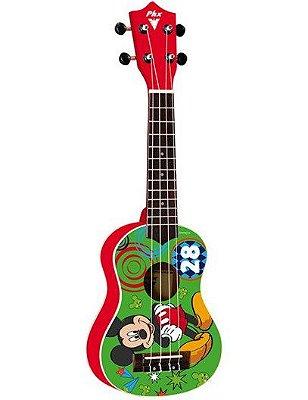 Ukulele Acústico Phoenix Soprano Infantil Mickey UKP-MK2 Vermelho