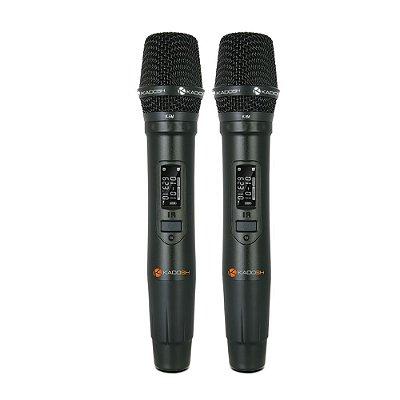 Microfone Kadosh K502M Mão Duplo Sem Fio