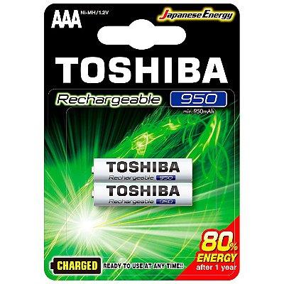 Pilha Palito Toshiba AAA 950MAH 1.2V Recarregável