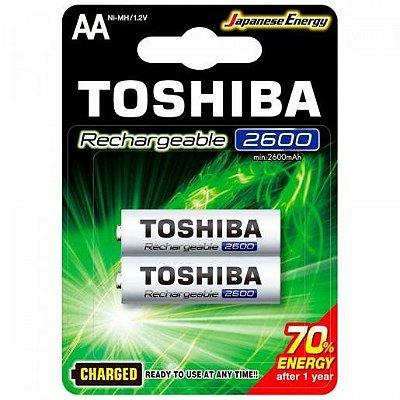Pilha Toshiba AA 2600MAH 1.2V Recarregável