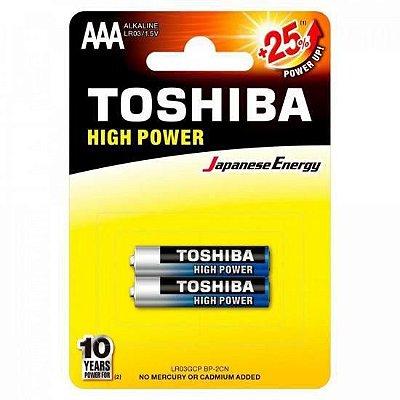 Pilha Palito Toshiba AAA 1.5V Alcalina Com 2 Unidades