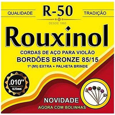 Encordoamento Violão Rouxinol R-50 Aço Bronze 010
