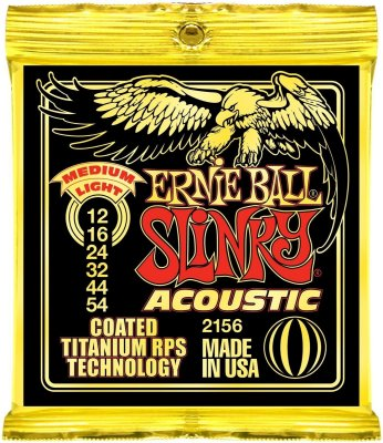 Encordoamento Violão Ernie Ball Slinky 2156 Coated Titanium Medium Light 012