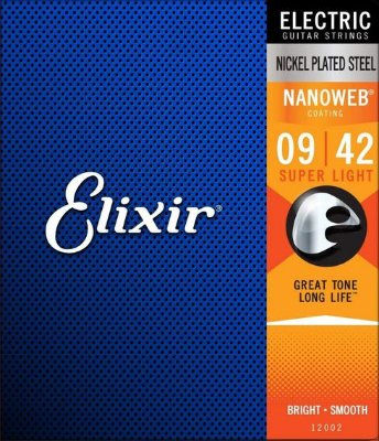 Encordoamento Guitarra Elixir Nanoweb Super Light 09-42