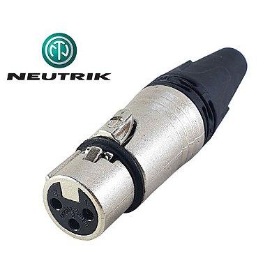 Plug Conector Neutrik NC3FXX - XLR Fêmea de Cabo/Linha