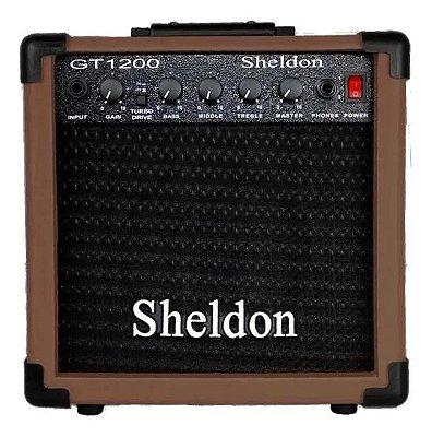Amplificador Guitarra Sheldon GT-1200 Marrom 15W