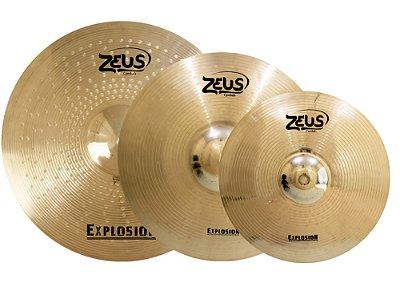 """Set Prato Zeus Explosion B20 Set C 14"""" 16"""" 20"""" Com Bag"""