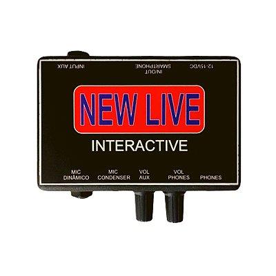 Interface de Áudio New Live Interactive Profissional 3 Canais