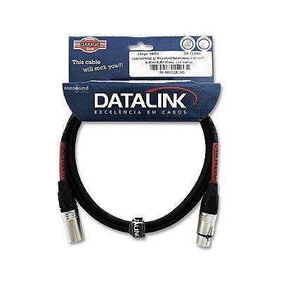 Cabo Datalink Garage P/ Microfone Balanceado 0,30mm²  XLR(m)-XLR(f) 3m