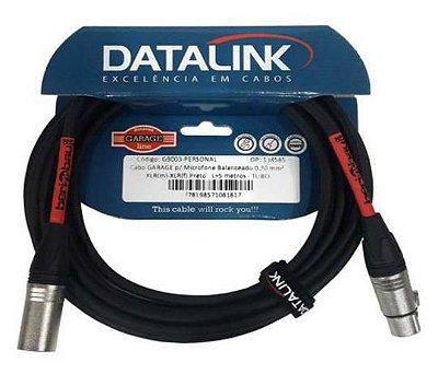 Cabo Datalink Garage P/ Microfone Balanceado 0,30mm²  XLR(m)-XLR(f) 5m