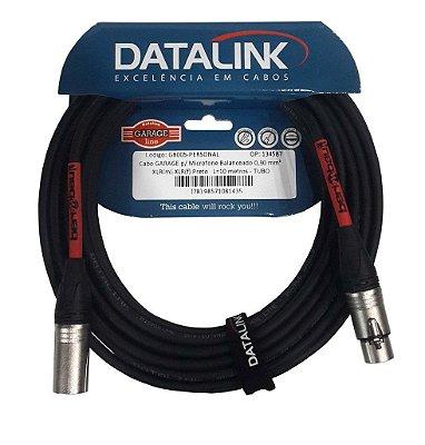 Cabo Datalink Garage P/ Microfone Balanceado 0,30mm²  XLR(m)-XLR(f) 10m