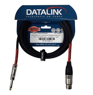 Cabo Datalink Garage P/ Microfone Desbalanceado 0,30mm²  P10-XLR(f) 3m