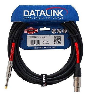 Cabo Datalink Garage P/ Microfone Desbalanceado 0,30mm²  P10-XLR(f) 7m