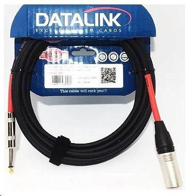 Cabo Datalink Garage P/ Microfone Desbalanceado 0,30mm²  P10-XLR(m) 10m
