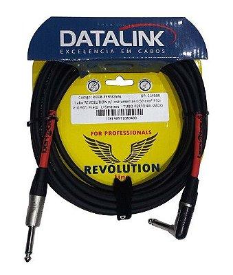 Cabo Datalink Revolution Premium Instrumento 0,50mm² P10-P10 (90°) 5m