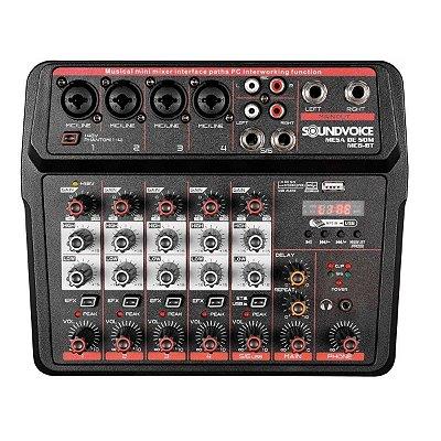 Mesa de Som Soundvoice MC6 Bluetooth