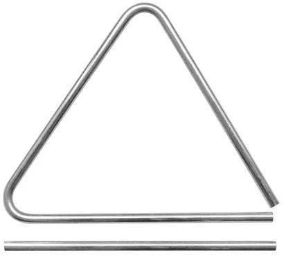 """Triângulo Gope 8""""x 20cm Aço Cromado"""