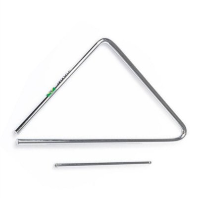 "Triângulo Gope 17""x 43cm Forrozão Aço Cromado"