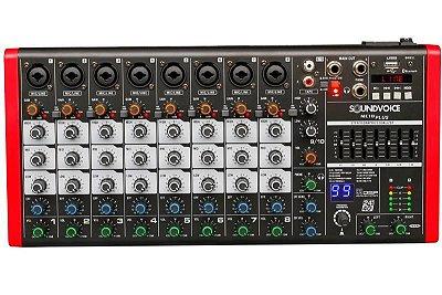 Mesa de Som Soundvoice MC10 Plus EUX 10 Canais Compacta