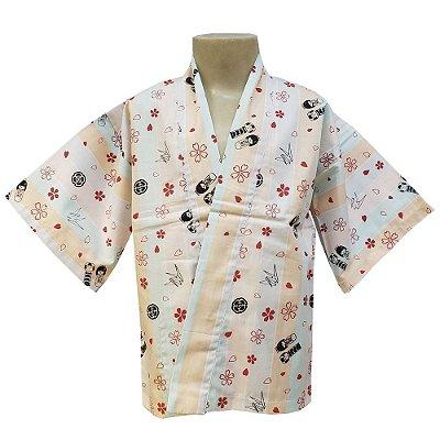 Happi Infantil Casal Kokeshi - Yunitto Lab