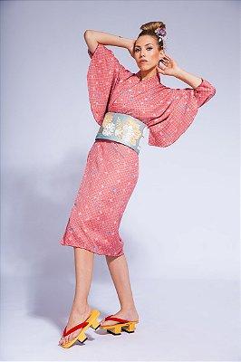 Kimono Rose Importado Japão