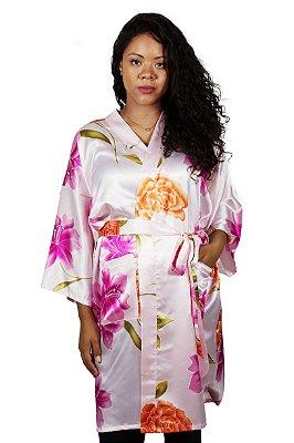 Kimono Flores Curto