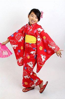 Kimono Infantil Vermelho - Yunitto Lab