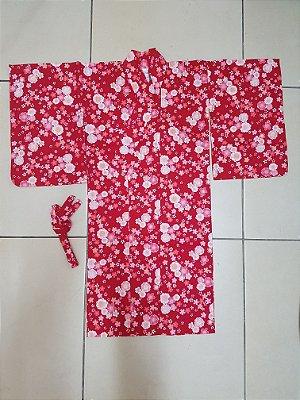 Kimono Sakura Vermelho - Yunitto Lab