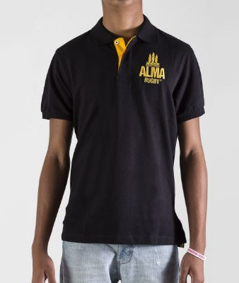 Polo Rugby Black & Gold by ALMA Rugby
