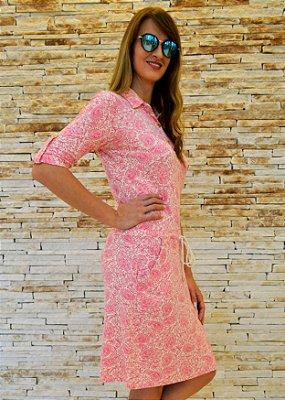 Vestido Paisley Rosa