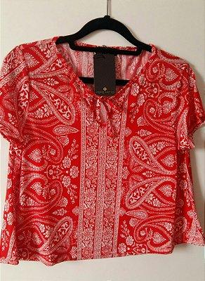 Blusa estampada vermelha
