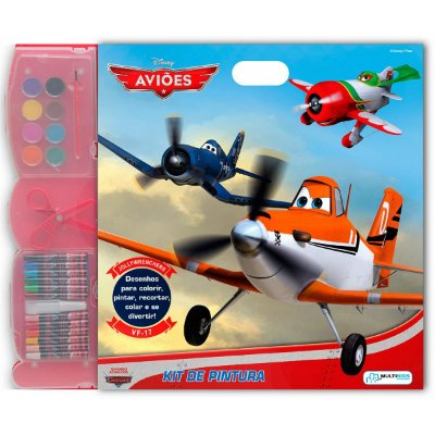 Kit Infantil de Pintura Aviões Desenhos para Colorir BR060 - Multikids
