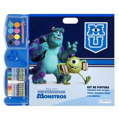 Kit Pintura Monstros University Multikids