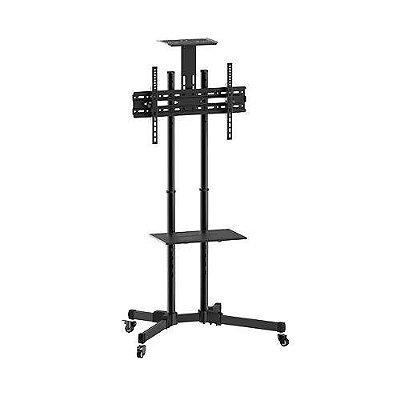 Suporte Pedestal Com Rodas E Altura Regulável Até 1450mm Para Tvs De 32'' A 65''- A06v6_S - Elg