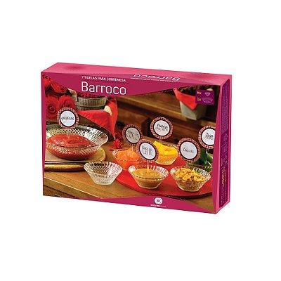 Conjunto de Tigelas para Sobremesa -  Linha Barroco 7 peças - Wheaton Brasil