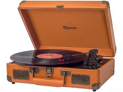 Vitrola com 3 Rotações do Tipo Briefcase (Maleta) com USB (Reproduz e Grava) e Bluetooth