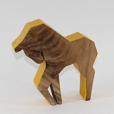 Cavalo decorativo em madeira rústica 18cm - Grouper