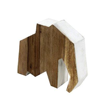 Elefante Decorativo em madeira rústica 17Cm - Grouper