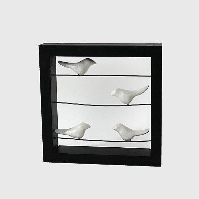 Pássaros Decorativos em madeira rústica na cerca 30Cm - Grouper