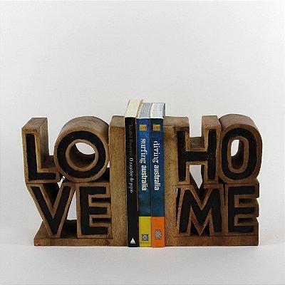 Apara Livro Love/Home 23 Cm Cj(2)